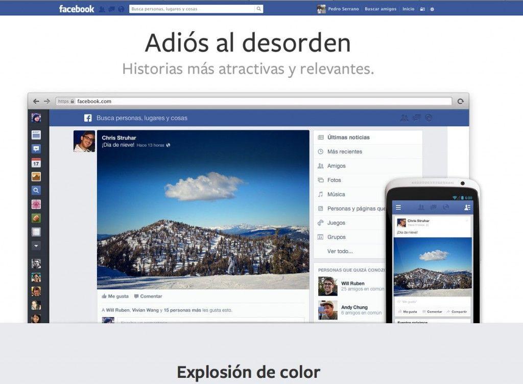 facebook presenta su nuevo diseño