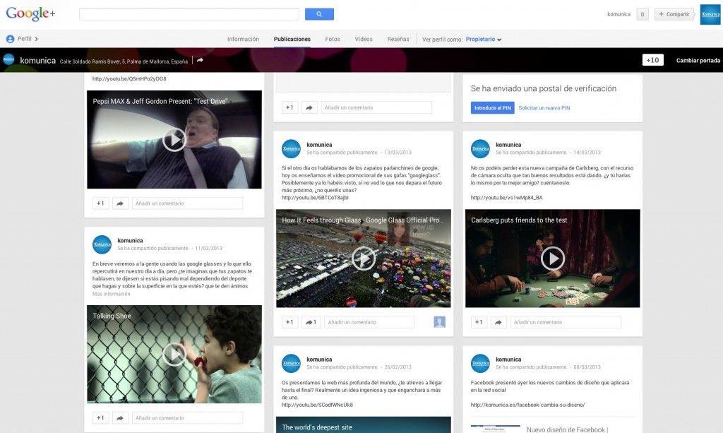 google+ nuevo diseño